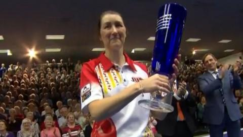 Julie Forrest with her trophy