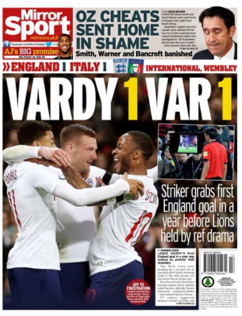 Wednesday's Mirror back page