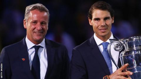 Chris Kermode and Rafael Nadal at ATP Finals