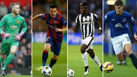 De Gea, Pedro, Pogba and Stones