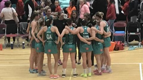 Celtic Dragons prepare for their match with Manchester Thunder