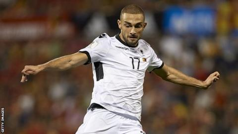 Eros Grezda has scored once in six international appearances for Albania