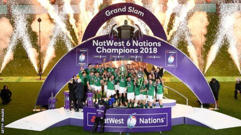 Ireland celebrate winning the Six Nations