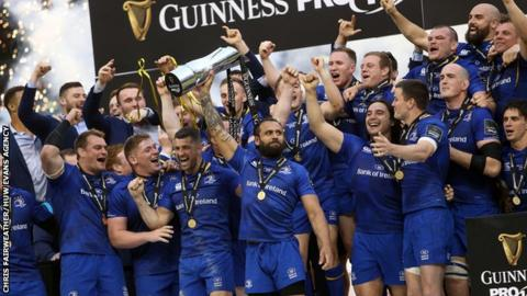 Leinster celebrate Pro14 title