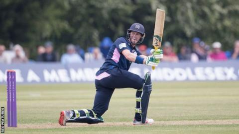 Nick Gubbins top scored for Middlesex with 92 before falling to Billy Root