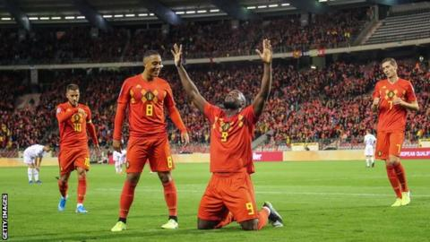 Rampant Belgium becomes 1st team to qualify for Euro 2020