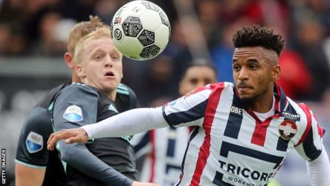 Funso Ojo, right, has made almost 100 appearances in the Dutch top flight