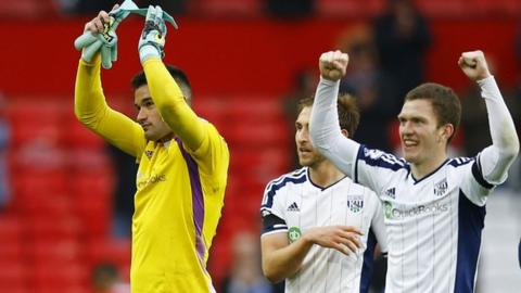 Boaz Myhill keept a clean sheet in Albion's 1-0 win over Manchester United late on last season at Old Trafford