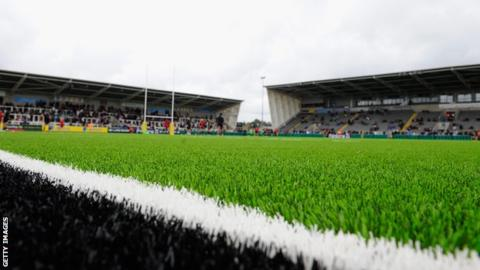 Kingston Park, home of Newcastle Falcons