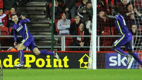 Harry Lennon celebrates his dramatic equaliser for Charlton against Bristol City