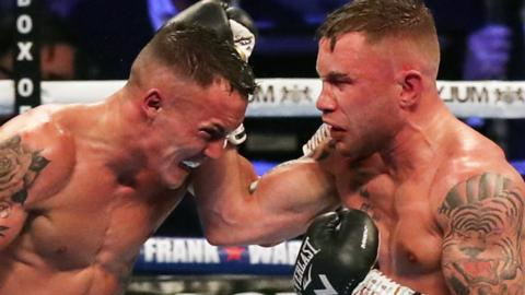 Josh Warrington beat Carl Frampton by unanimous decision in his first IBF title defence