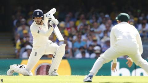 England's James Vince drives in Brisbane