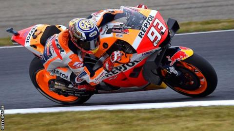 Spain rider Marc Marquez of Honda