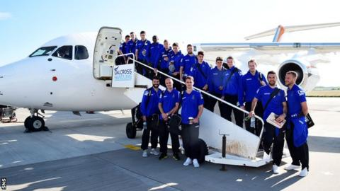 Inverness travelled to Romania in their only season in continental competition