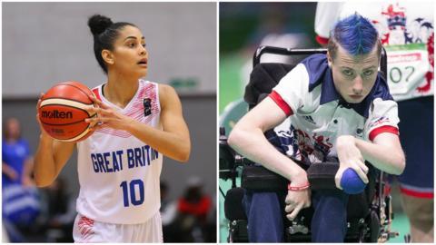 GB wheelchair basketball player Chantelle Pressley and boccia player David Smith