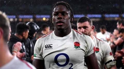 Maro Itoje playing for England