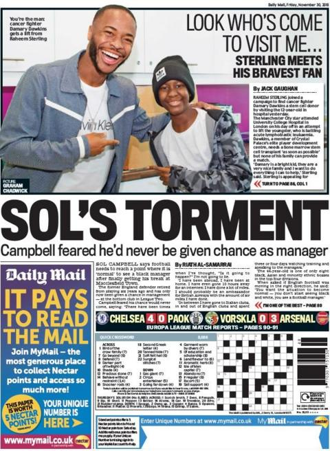 Mail back page on Friday