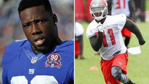 Jason Pierre Paul and CJ Wilson