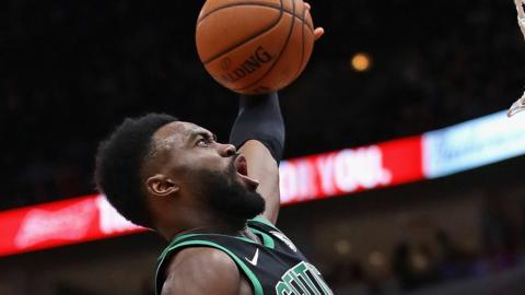 Jaylen Brown shoots