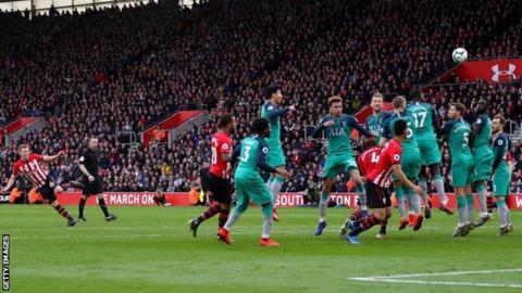 James Ward-Prowse scores a stunning free-kick