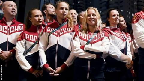 Russian athletes in Rio