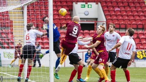 Curtis Main scores for Motherwell