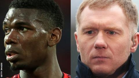 Paul Pogba's agent blasts ex-Man Utd midfielder Paul Scholes on Twitter