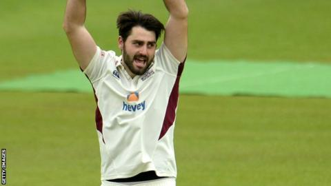 Brett Hutton in action for Northants