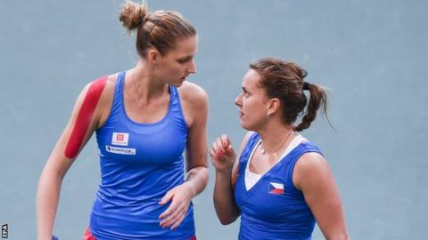 Czech Republic duo Karolina Pliskova (left) and Barbora Strycova