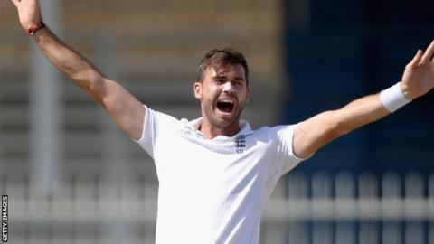 England swing bowler James Anderson