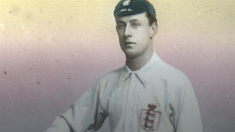 Fred Spiksley in an England kit