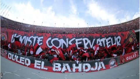 Fans of Algerian club USM Alger