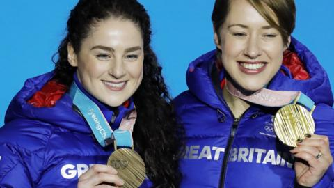 Lizzy Yarnold and Laura Deas