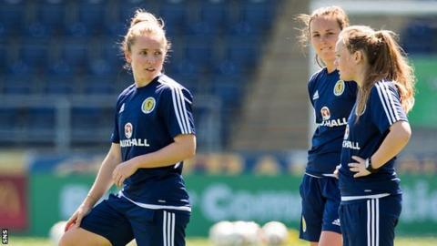 Kim Little and Scotland team-mates