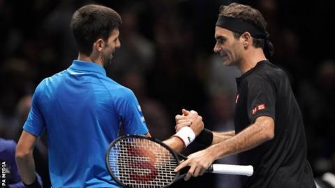 Roger Federer beats Novak Djokovic at ATP Finals