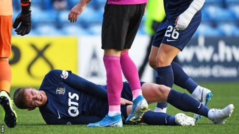 Stuart Findlay was injured in the win over St Mirren