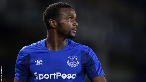 Cuca Martina in action for Everton