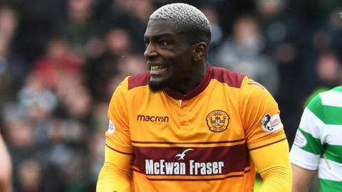 Motherwell defender Cedric Kipre