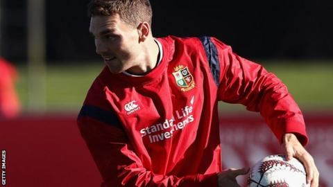 George North in training with the 2017 British and Irish Lions