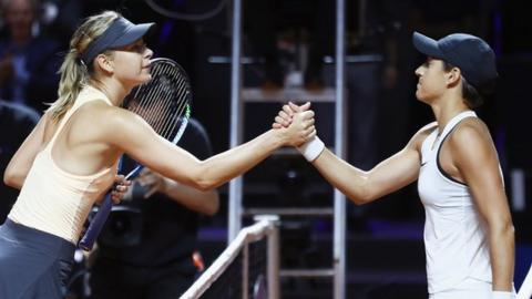 Maria Sharapova loses to Caroline Garcia