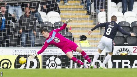 John Baird scores for Falkirk against St Mirren