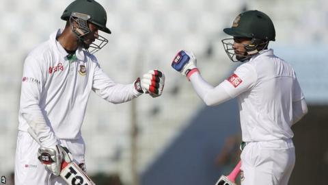 Bangladesh batsmen Sabbir Rahman and Mushfiqur Rahim