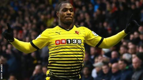 Watford's Nigeria international striker Odion Ighalo