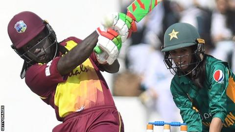 West Indies all-rounder Deandra Dottin in action against Pakistan