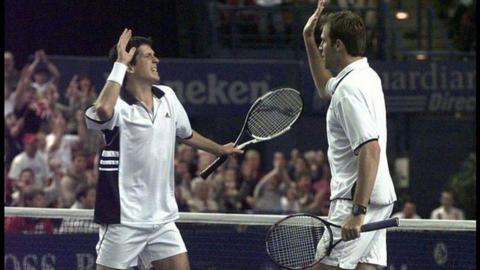 Tim Henman and Greg Rusedski combined to beat Todd Martin and Alex O'Brien in the doubles - but Britain still lost 3-2 to the United States in 1999