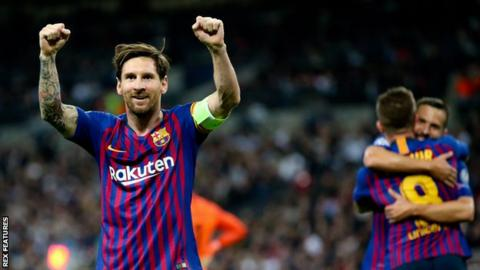 Tottenham 2-4 Barcelona: Messi scores twice as Spurs beaten in
