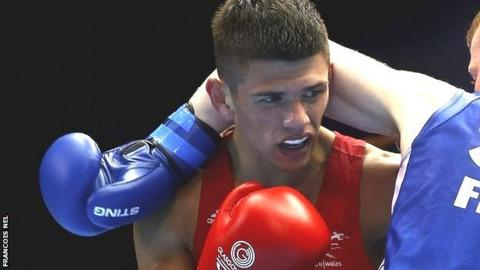 Welsh boxer Joe Cordina