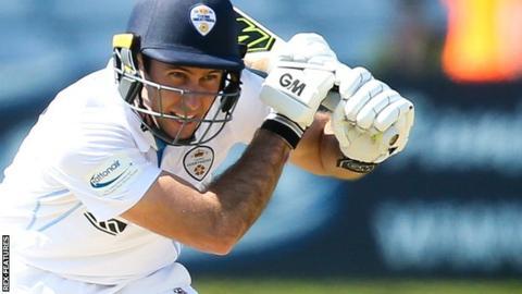 Derbyshire batsman Wayne Madsen