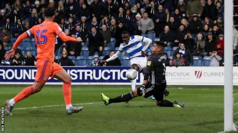 QPR's Bright Osayi-Samuel beats Cardiff goalkeeper Neil Etheridge