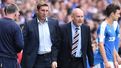 Alan Stubbs (left) and Mark Warburton